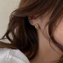 Корейские Модные Винтажные маленькие металлические серьги гвоздики