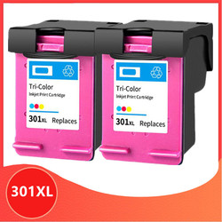 2Pack Color 301XL Refilled Ink Cartridge Replacement for hp 301 xl for hp301 CH563EE CH564EE for HP Deskjet 1000 1050 2050 3000