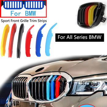 3PCS M Power For BMW X1 X3 X4 X5 X6 1 2 3 4 5 6 7 Series G30 G20 G05 F15 F16 G01 F25 F30 F10 F20 E46 E90 E60 Grille Trim Strips image