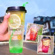 50 шт., высокое качество, толстые прозрачные стаканчики для сока, 500 мл, креативные одноразовые стаканчики для празднования дня рождения, пластиковые стаканчики для упаковки напитков