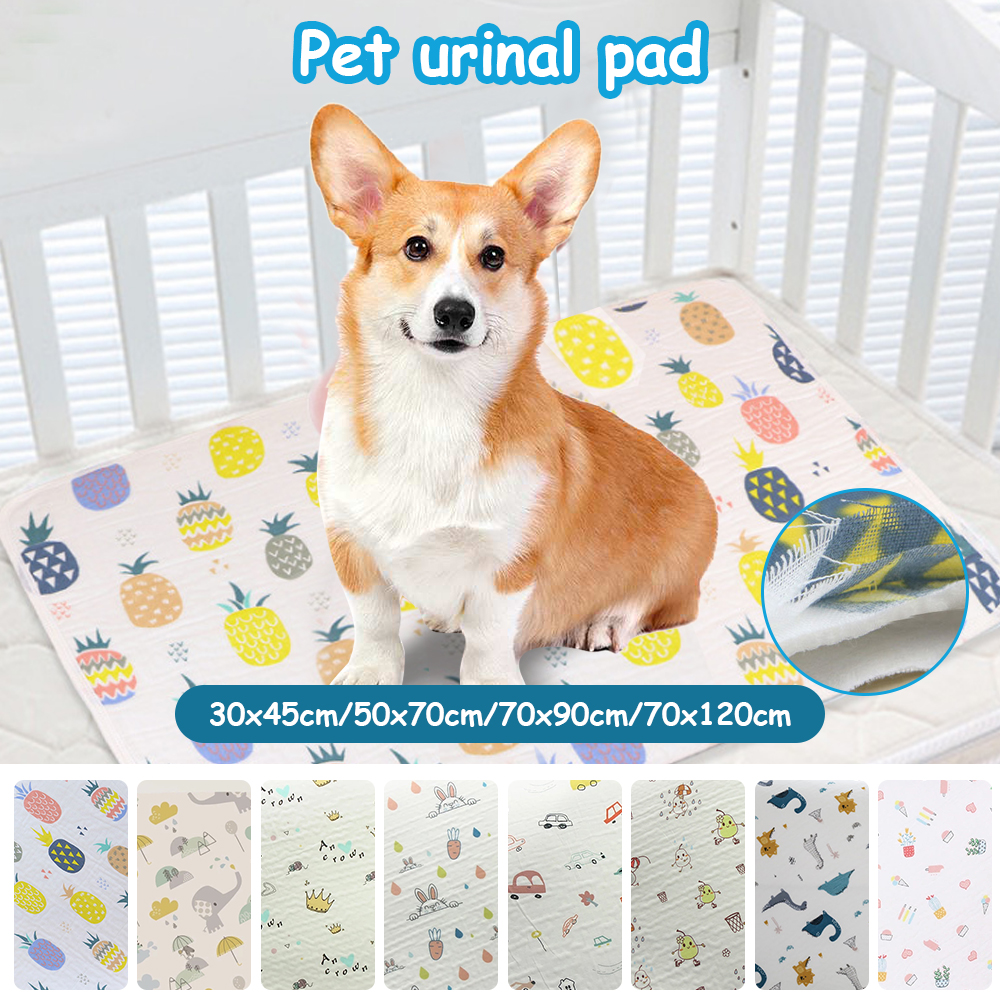 Pet Dogs Absorbent Mat Water Absorbency Diaper Sleeping Bed for Small Dog Reusable Diapers for Dog Urine Puppy Training Pad