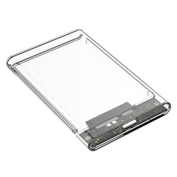 2.5 inch Transparent SATA to USB 3.0 Micro-B SSD HDD Case Adapter External Enclosure Box Hard Drive Case for Laptop Notebook PC