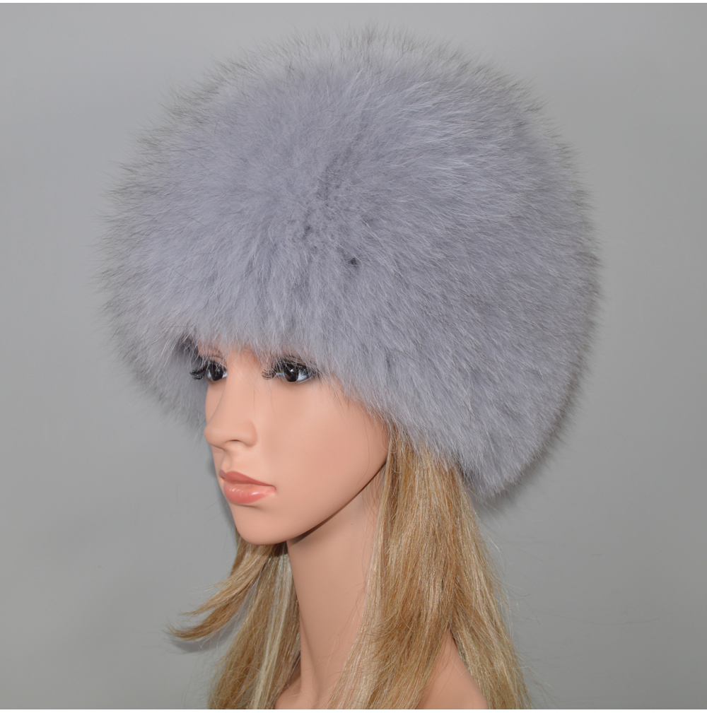 Hd7810395244944f98b5eedfe74926356p - New Luxury 100% Natural Real Fox Fur Hat Women Winter Knitted Real Fox Fur Bomber Cap Girls Warm Soft Fox Fur Beanies Hats