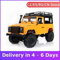 MN-D90 Rock Crawler 1/12 2.4G 4WD di Controllo Remoto Auto 180 Motore Ad Alta Velocità Fuori Strada Auto RC Auto Led luce RTR