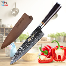 FINDKING New Ebony wood handle Japanese damascus knife 8 inch chef 67 layers kitchen