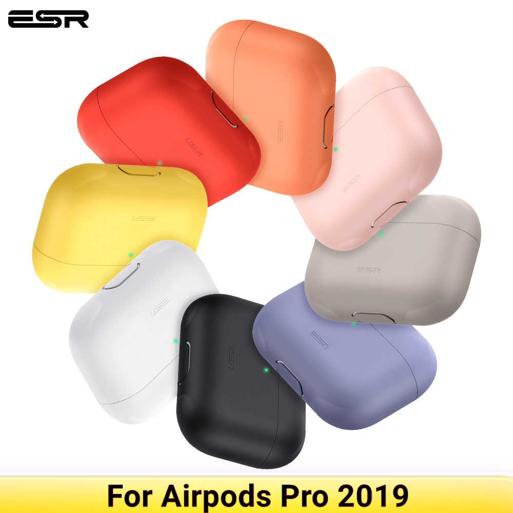 ESR AirPods Pro Case Shockproof Protective Cover Silicone For AirPods 3 Charging Case Candy Color Black White Pink Wireless 2019