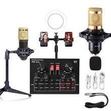BM800 Mikrofon Soundkarte PC Spiel Live Streaming DJ Audio USB Mixer Kondensator bluetooth USB Aufnahme Professionelle Telefon V8 V9