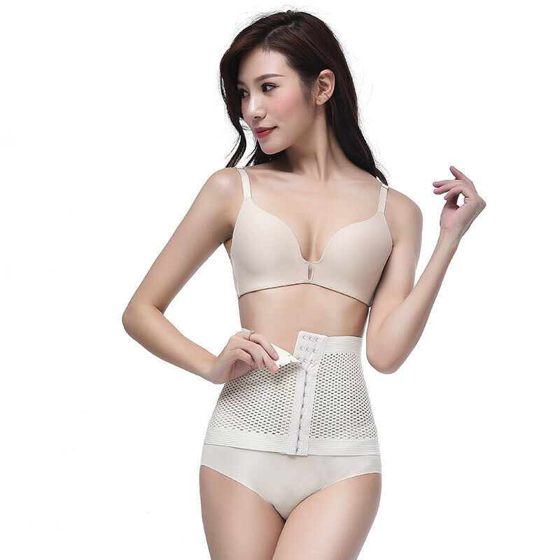 2019 Hot Sale Womens Fitness Slimming Body Waist Shaperwear Cummerbunds Training Trainer Tummy Cincher Girdle Corset Black M-XXL