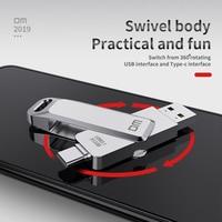USB Flash DriveDM PD168 USB 3,0 C OTG Pendrive 256 128 64 GB para Xiaomi Redmi5 para Samsung S9 Plus Nota 9 Stick Pen Drive