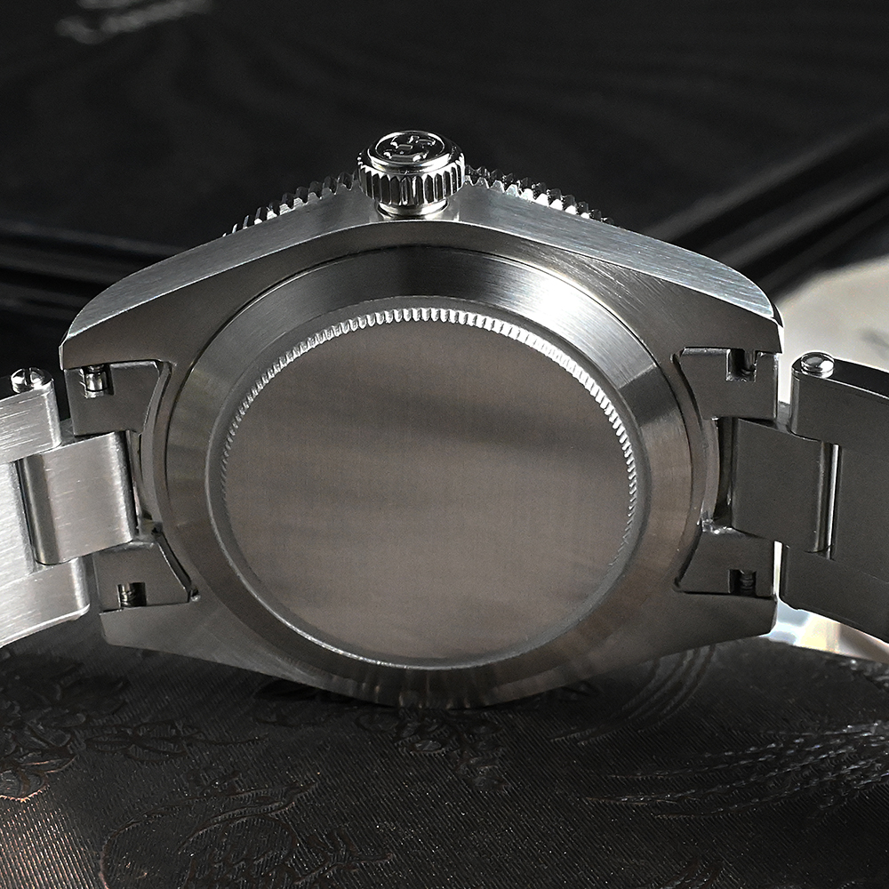 San Martin Men Watch 40mm Diver BB58 Retro Luxury Water Ghost PT5000 SW200 Rivet Bracelet Sapphire 20Bar Waterproof Luminous 5