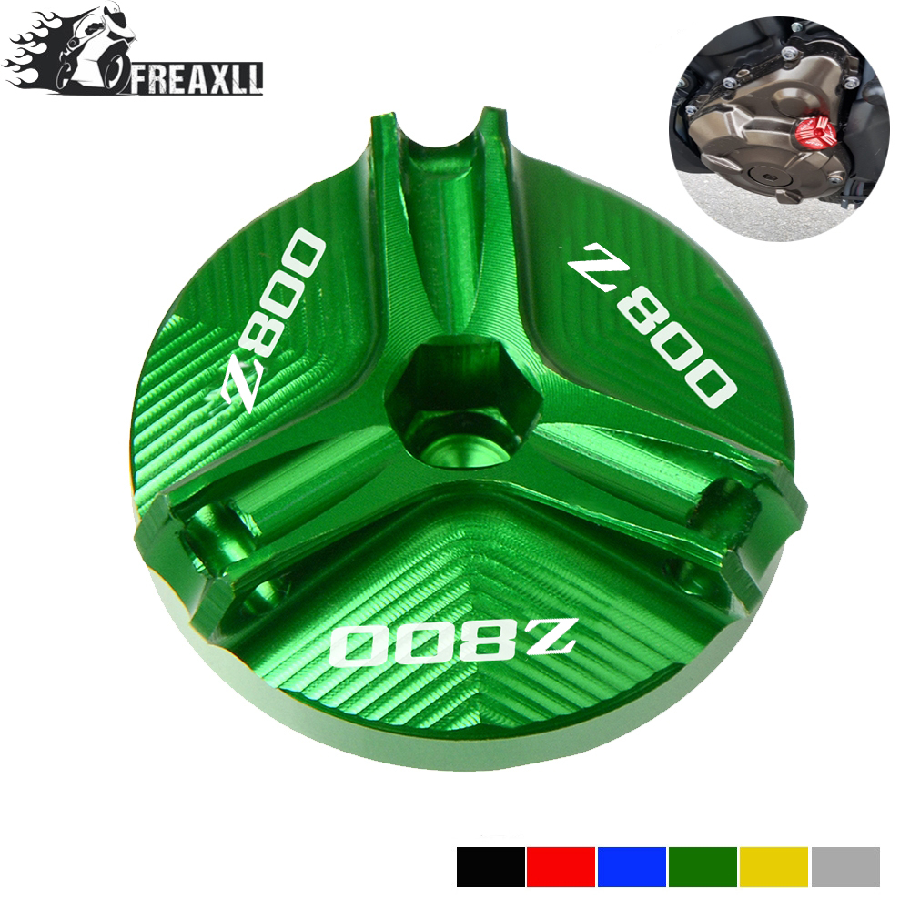 For Kawasaki Z800 Z 800 2013-2016 2014 2015 New Motorcycle Engine Oil Drain Plug Sump Nut Cup Oil Fill Cap Cover With Logo Z800