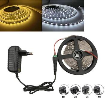 цена на 5m/10m LED Strip SMD 5630 3528 Warm White/White Flexible LED Strip DC 12V 2835 60leds/M LED Tape Light No Waterproof US/EU/UK/AU