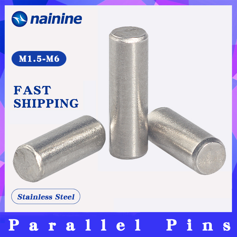 10/20Pcs M1.5 M2 M2.5 M3 M4 M5 GB119 Cylindrical Pin Parallel Pins 304 Stainless Steel HW042