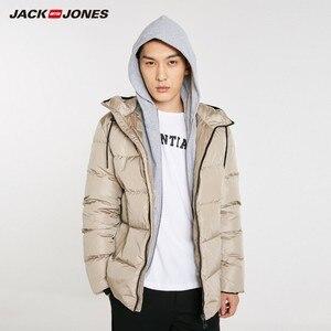 Image 3 - Chaqueta de plumón con capucha casual de moda de JackJones para hombre abrigo parka corto para hombre 218412509