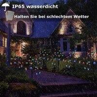 3 Teile/satz Energie Saving Solar Lampe Kirsche Baum 60 LED Dekoration Weihnachten Garten Zier Blossom Solar Lichter Zweige.