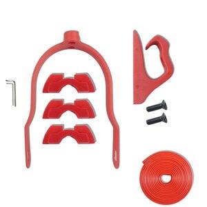 Para xiaomi scooter m365/pro conjunto de acessórios combinação gancho paralama suporte tira protetora amortecimento