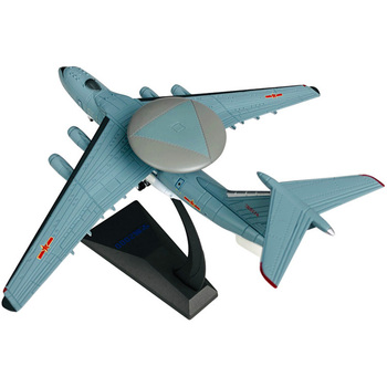 1/240 Scale Alloy Aircraft Air Early Warning KongJing 2000 AEW KJ2000 Mainring Plane Model Toys Children Kids Gift for Collectio