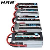 Hrb 6 s 22.2 v lipo bateria 2200mah t deans 1800mah 2600 3300mah 4000mah 5000mah 6000mah 10000mah 12000mah 16000 mah 22000mah mah rc peças|Peças e Acessórios| |  -