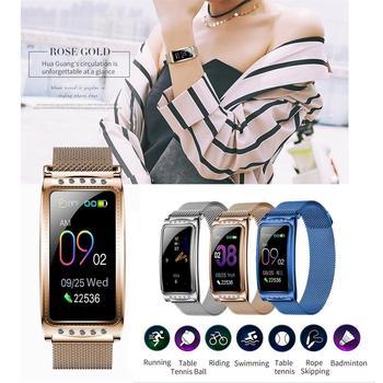 Women Smart Watch Luxury Diamond Magnetic Ladies watch Heart Rate Blood Pressure Smart Bracelet Fitness Tracker Wristband