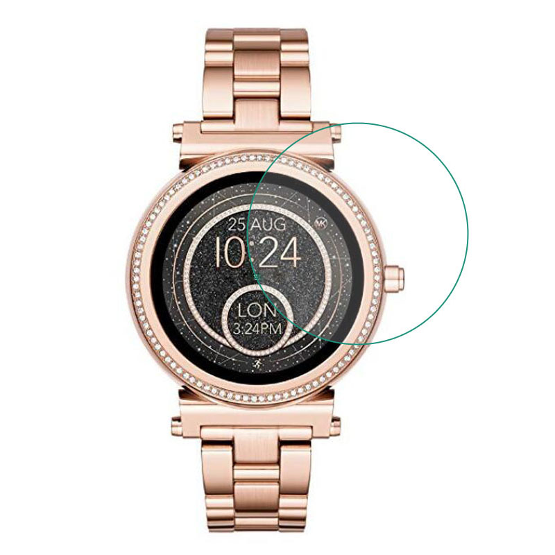 Tempered Glass Protective Film Guard For Michael Kors Access Sofie Watch Smartwatch Display Screen Protector Cover Protection