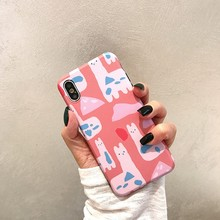 For Iphone 7 8 Plus 6s Abstract Cartoon Animal Pattern Phone Case IPhone XI X XS 6 6S Soft Silicone Cover