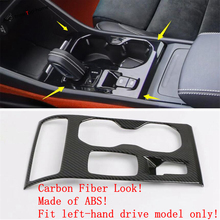 Yimaautotrims Central Control Gear Shift Box Cover Trim Fit For VOLVO XC40 2018 2019 2020 Carbon Fiber ABS Interior Mouldings yimaautotrims middle control gear shift multimedia cover trim interior mouldings fit for mercedes benz gle w166 2016 2017 2018