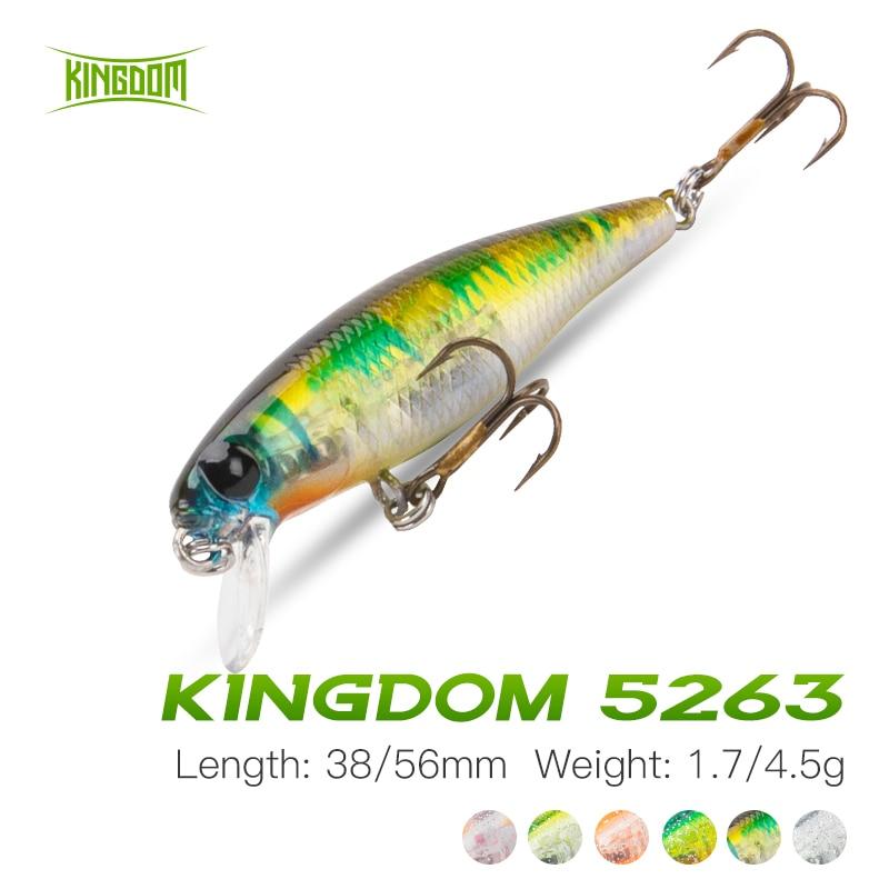 Купить kingdom рыболовная приманка minnow 38 мм/17 г 56 мм/45 опускается