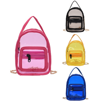 Women Small Purses and Handbags PVC Transparent Jelly Crossbody Bags for Women Laser Clear Shoulder Bag Ladies Hand Bags
