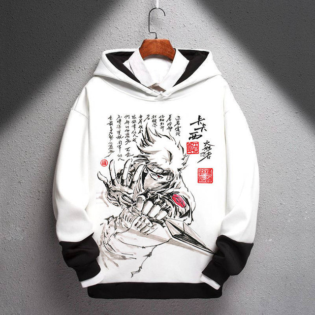 NARUTO THEMED PULLOVER HOODIE (6 VARIAN)