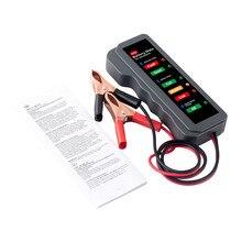 Автомобильный аккумулятор тестовый er BM310 12 В Цифровой тест 6 светодиодный дисплей анализатор генератор состояние проверка Чистый медный зажим для провода