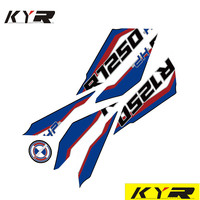 New Motorcycle Front Fairing Sticker 3D Gel Protector Number Board moto Engine Vehicle decals for BMW R1250HP r1250 hp 2019