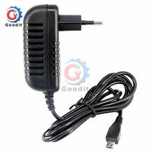 100-240 В AC к DC адаптер питания зарядное устройство адаптер 5 в 3A ЕС Разъем для переключателя светодиодные полосы лампы