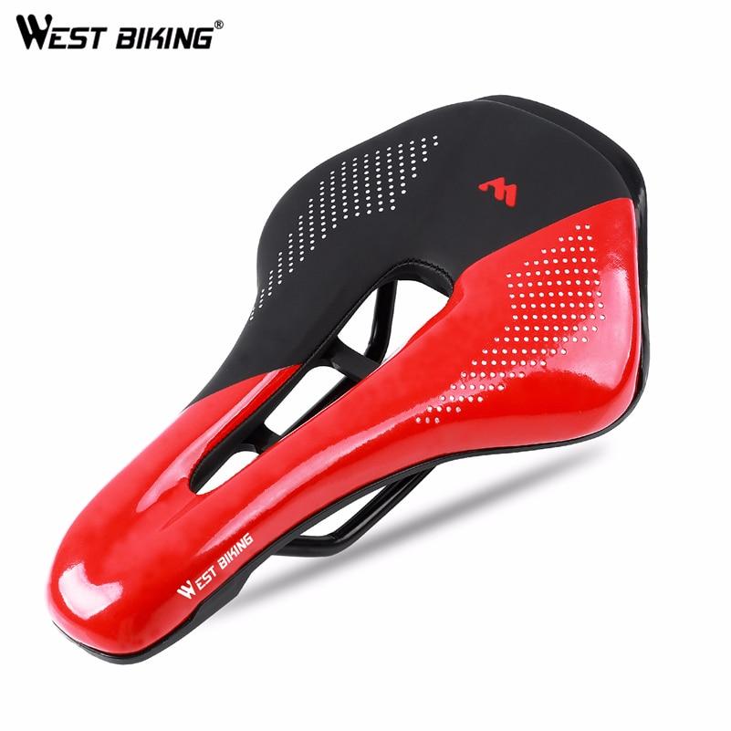 Bicycle-Seat-Cover Saddle Mtb Bike Road-Bike-Saddle West Biking Carbon Cushion Comfortable
