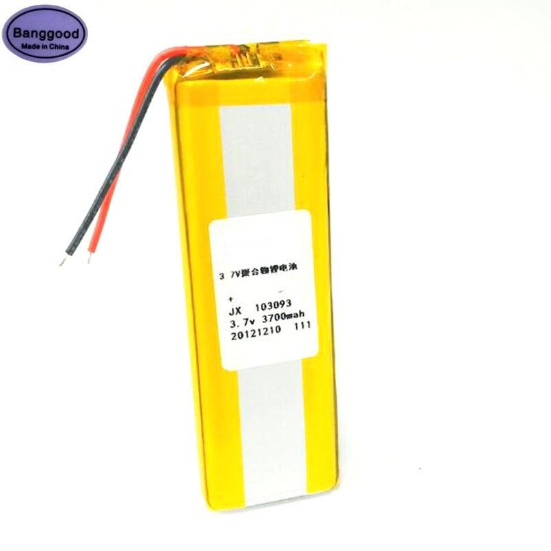1/2/10PCS 3.7V 3700mAh 103090 103093 Lipo Polymer Lithium Rechargeable Li-ion Battery For DIY Mini Smart Power Bank Cell Phone