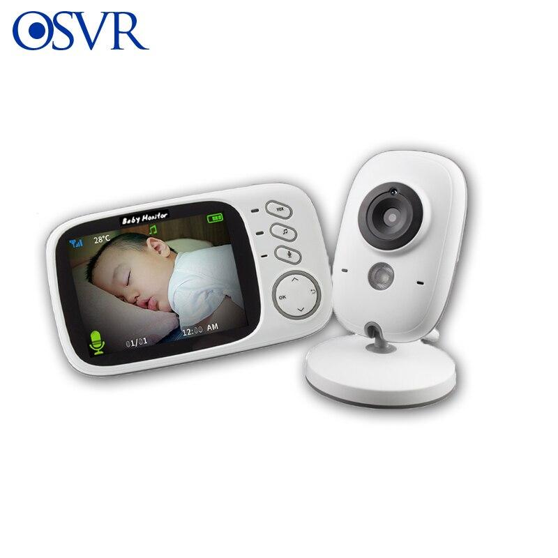 3.2 cal bezprzewodowy Monitor kolorowy niania elektroniczna Baby Monitor wysokiej rozdzielczości niani kamera ochrony Night Vision monitorowanie temperatury