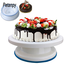 10 inch High quality Cake Stand Craft Turntable Platform Cupcake Swivel Plate Revolving Baking Decorating Tools