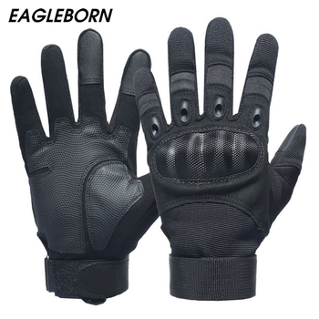 Military Men Black Gloves Carbon Fiber Force Simulation Training Outdoor Tactical Full Finger Combat - discount item  45% OFF Gloves & Mittens