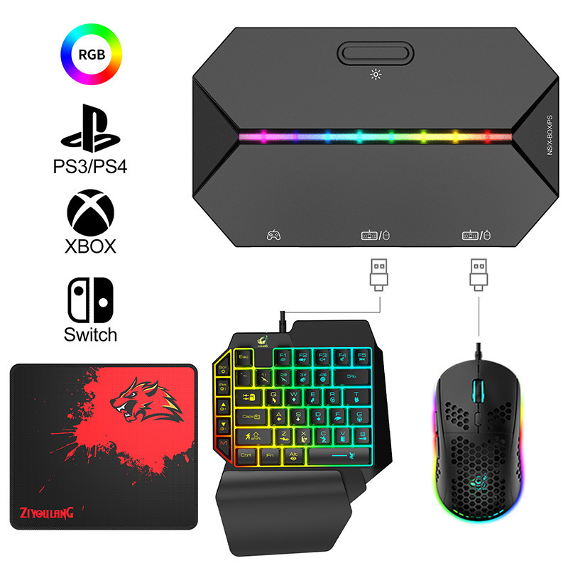 Switch Xbox PS4 Console Gamepad To Keyboard and Mouse Converter Gamepad for Nintendo Switch Console Keybord Mice Gaming Setup 2
