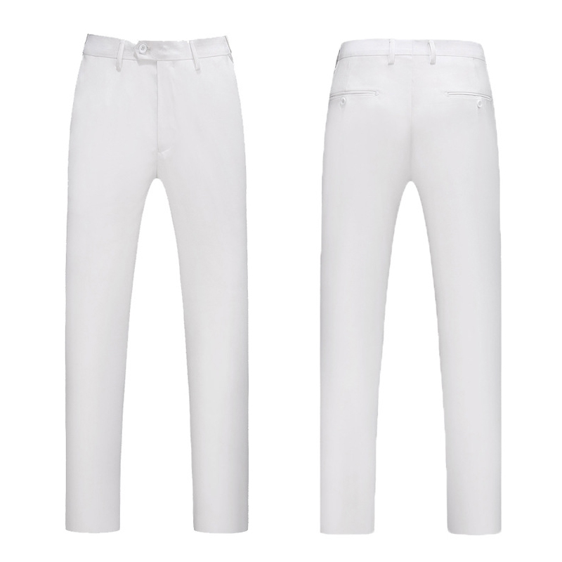 Men's Suit Pants White New Style Business Casual Slim Fit Trousers Large Comfortable Pant Large Size Straight Pants