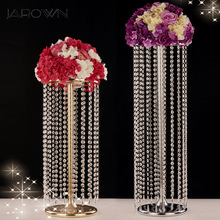 JAROWN Wedding Ferris Wheel Crystal Acrylic Beads T Stage Road Lead Weddings Main Table Centerpiece Flower Stand Home Decorative