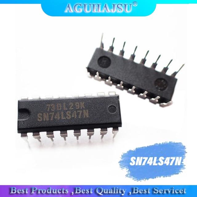 10 шт. SN74LS47N DIP16 SN74LS47 DIP 74LS47N 74LS47 molewei Новый светодиодный дисплей драйвер 7 ми сегментный дисплей