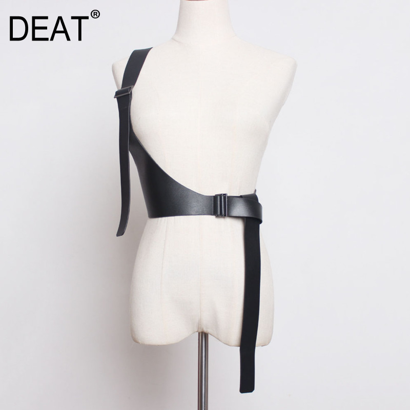 DEAT 2020 New Spring Fashion Women Strap Belt Solid Color Elastic Single Shoulder Strap Female Tide PD138