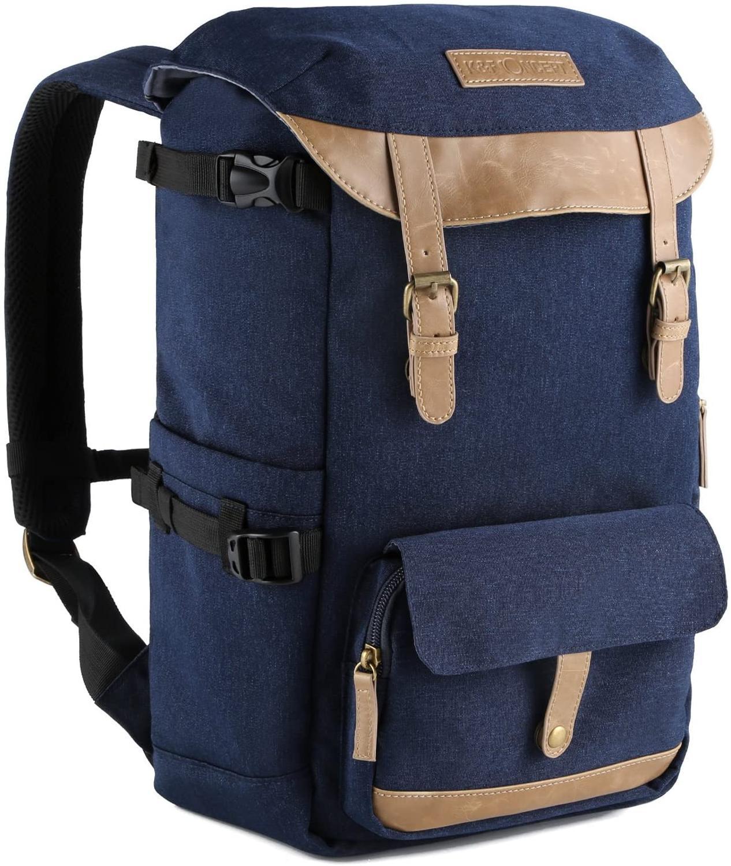 K & F CONCEPT вместительный Многофункциональный водонепроницаемый рюкзак для камеры, дорожная сумка с нагрудным ремнем, штатив SLR