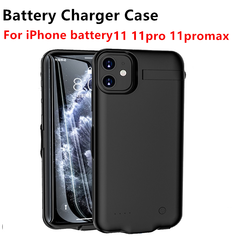 Hot 10000Mah Battery Case For iphone <font><b>11</b></font> <font><b>11</b></font> Pro <font><b>11</b></font> Pro Max Battery Charger Case Ultra Slim Universal Portable Power Bank Charger image