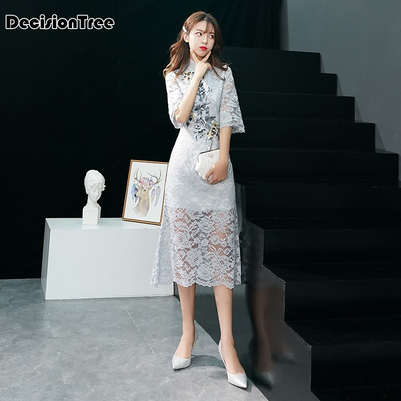 2019 Vintage Chinese Style Wedding Dress Retro Toast Clothing Gown Marriage Cheongsam Qipao Party Evening Dress Vestidos Clothes
