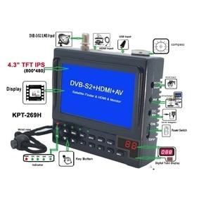 Image 4 - KPT 269H DVB S2 Satellitefinder Full HD Truyền Hình Kỹ Thuật Số Vệ Tinh Thu Tìm Đo MPEG 4 HD DVB S Vệ Tinh Tìm