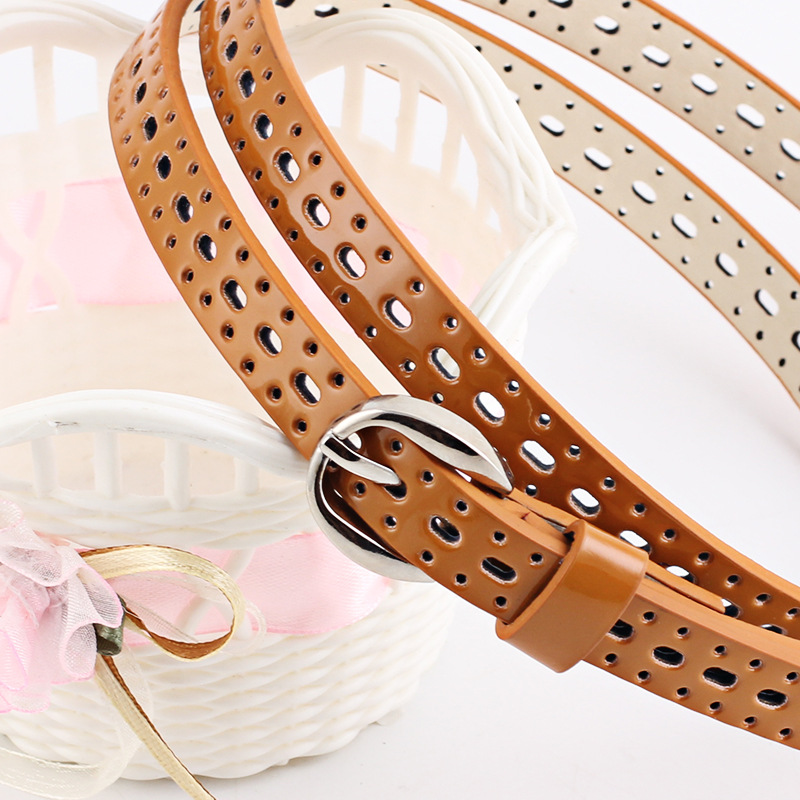 Top2019  Shipping Women's Belt Bright Pure Colors Belt Leather Fashionable Style Decoration Belt For Women Dresses Accessories