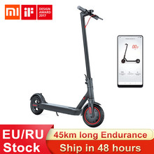 Xiaomi mijia m365 pro scooter elétrico inteligente e scooter skate hoverboard longboard 2 rodas patinete adulto 45km bateria