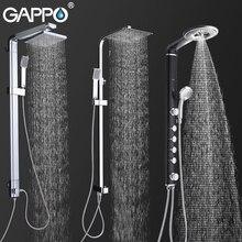 GAPPO смесители для душа для ванной, Душевая система, настенный кран, смеситель, дождевой душевой набор, водопад, АБС-панель, массажная