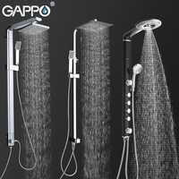 GAPPO grifos de ducha para baño Sistema de ducha de baño grifo montado en la pared grifo mezclador juego de ducha de lluvia cascada ABS Panel de masaje